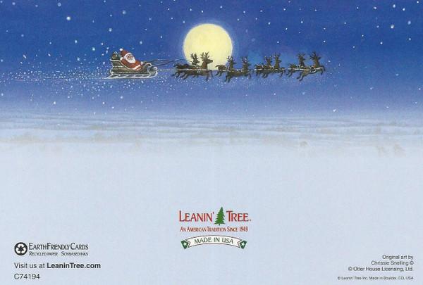 Border Collies & Santa's Sleigh Christmas Card Set