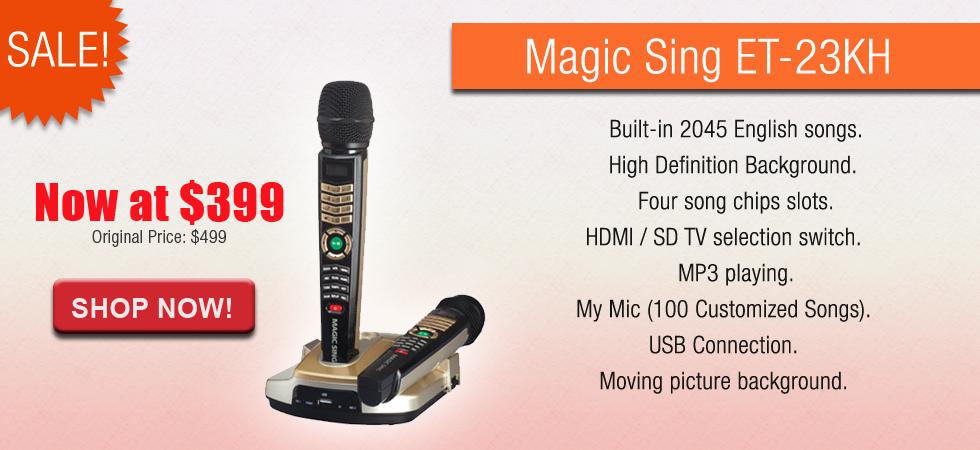 Magic Sing ET23KH SALE!