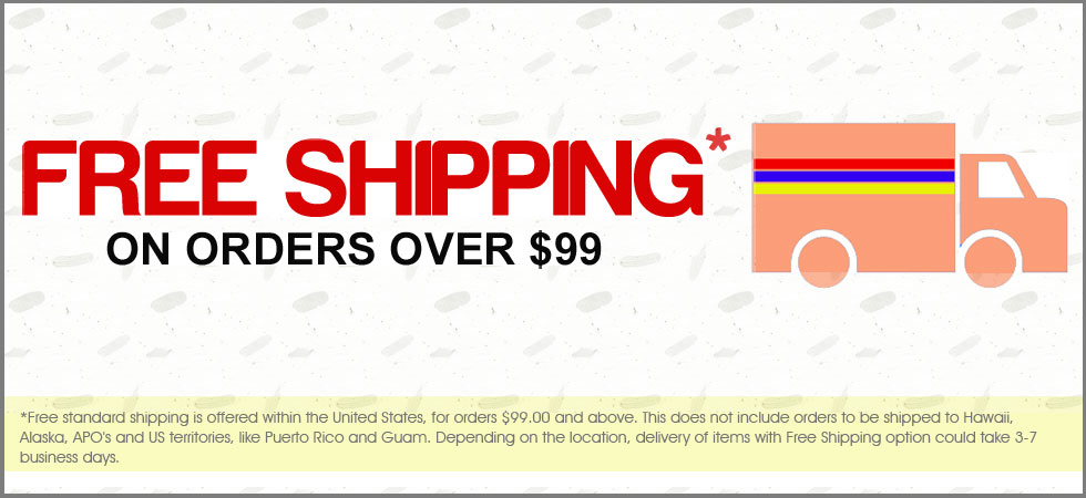Free Shipiping within United States on orders $99 up