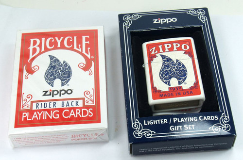 Bicycle Playing Cards With Matching  Zippo Lighter 2010