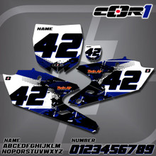 Yamaha Cor1 Number Plates