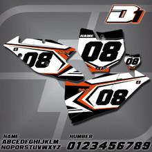 KTM D1 Number Plates