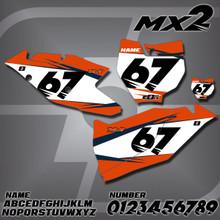 KTM MX2 Number Plates
