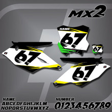 Kawasaki MX2 Number Plates