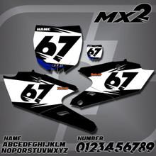 Yamaha MX2 Number Plates