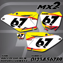 Suzuki MX2 Number Plates