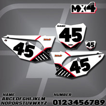 Honda MX4 Number Plates