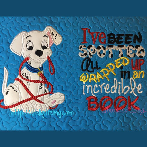 Dalmation With Leash Only Machine Applique Embroidery