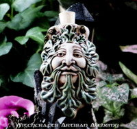 GREENMAN Clay Bead Pendant Oil Bottle Necklace