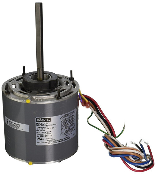 1 2 Hp 1075 Rpm 3 Speed 208 230 Volts 5 6 Diameter Fasco