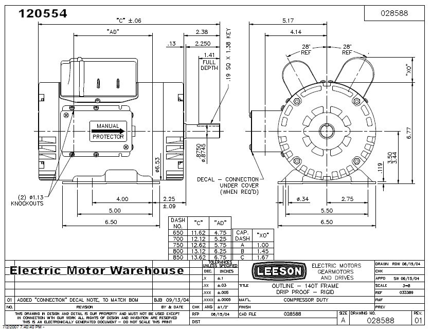 5 Hp 3450 Rpm 145t 230v Air Pressor Motor Leeson 120554: 2 Hp Leeson Motor Wiring Diagram At Imakadima.org