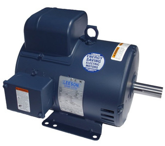 3 hp 1725 RPM 184T Frame 115/208-230 Volts Open Drip Leeson Electric Motor # 131530