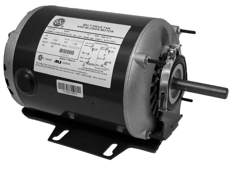 1 4 hp 1725 rpm 48 frame 115 230v belt drive furnace motor for 1 4 hp 1725 rpm motor