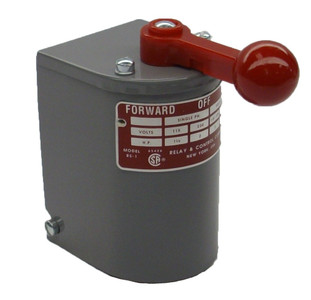 1.5 hp - 2 hp Electric Motor Reversing Drum Switch - Single Phase Only - Position = Maintained # RS-1A