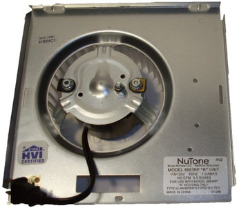 Nutone Motor (8663RP) Assembly # 97017705 1550 RPM; 1.9 amps, 115 Volts