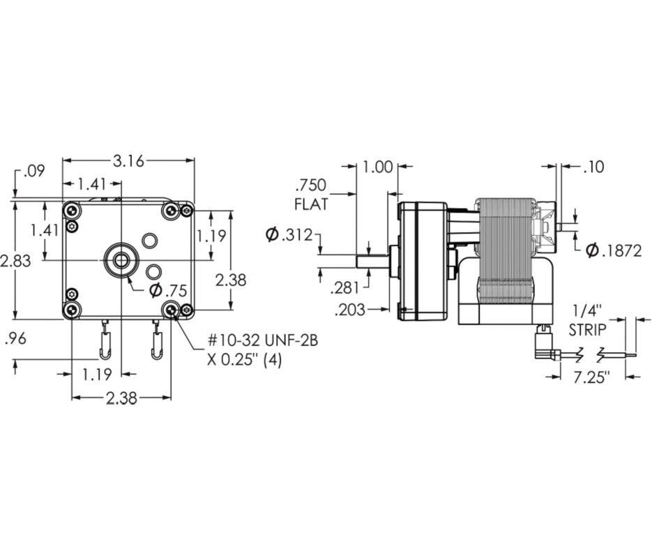 Dayton Model 1MBF5 Gear Motor 66 RPM 1229 hp 115V Old Model 2Z806 – Rotom Canada Capacitor Wiring Diagram