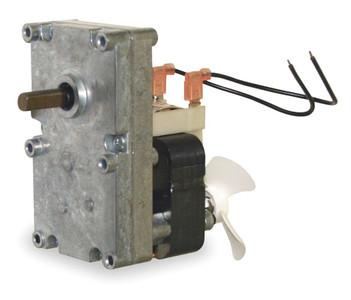 """Pellet Stove Auger Gear Motor 3/8"""" Shaft With Cooling Fan 1 RPM, 115V Dayton # 1LNG2"""