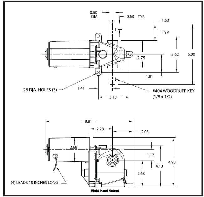 Dayton Model 1lra5 Acdc Right Hand Gearmotor 8 Rpm 115 Hp 115vac: 2 Hp Leeson Motor Wiring Diagram At Imakadima.org