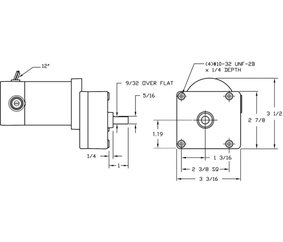1LPV3_dim__23528.1435077356.1280.1280?c=2 dayton model 1lpw3 dc gear motor 29 rpm 1 30 hp 90vdc (4z537) Two Speed Motor Wiring Diagram at reclaimingppi.co