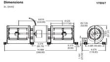 Dayton Model 1TDU7 Low Profile Blower 115 Volt for