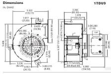Dayton High Temperature Blower 76 CFM 3040 RPM 115 Volts