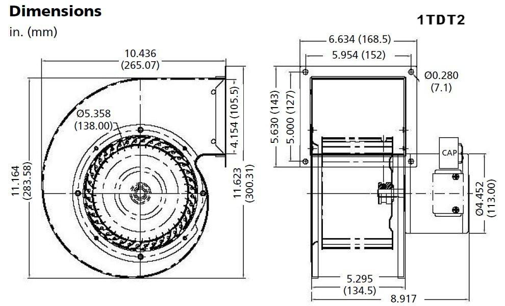 Dayton 1tdt2 Psc Blower Wiring Diagram Fasco Blower Wiring