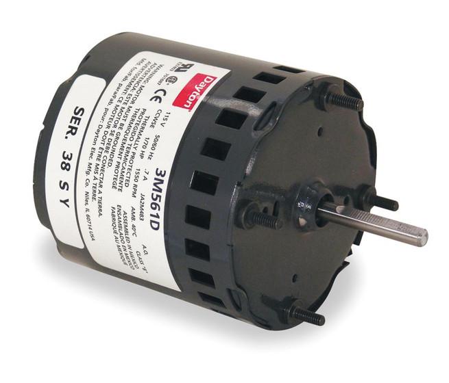 170 hp  1550 RPM  115 Volt  33  diameter    Dayton       Electric       Motor    Model 3M561