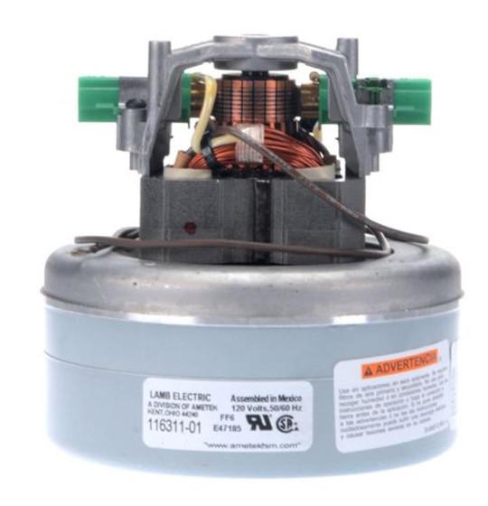 Ametek Lamb Vacuum Blower Motor 120 Volts 116311 01