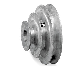 "4"" Diameter - 3 Step Pulley 1/2"" - 5/8"" Fixed Bore - Die Cast by Congress"
