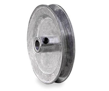 "4.00"" x 1/2"" Single Groove Fixed Bore Die Cast Pulley"