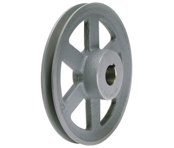 "6.45"" X 1-1/8"" Single Groove Fixed Bore ""A"" Pulley # AK66X1-1/8"