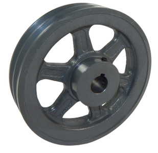 "8.25"" X 1"" Double Groove AK Fixed Bore Pulley # 2AK84X1"