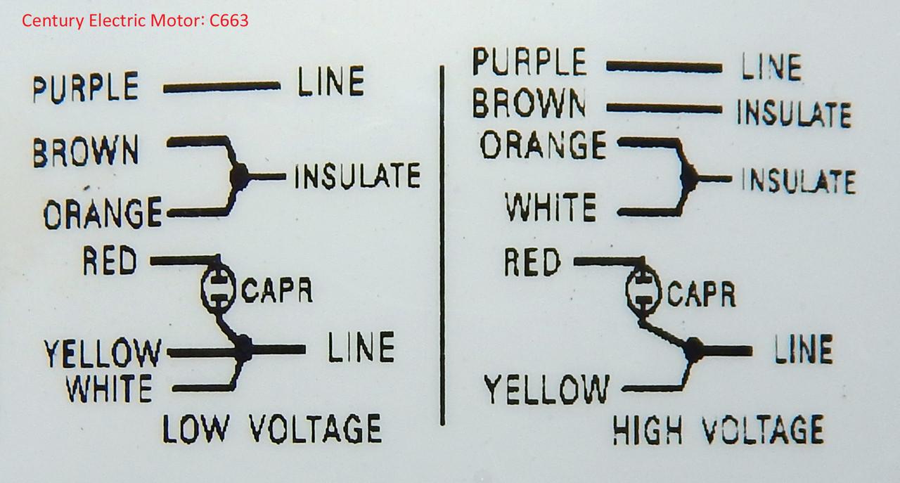 C663_wiring_copy__00108.1487337099.1280.1280?c=2 liebert condenser motor 3 4 hp 1100 rpm 208 230 460v century c663 Liebert CRAC Unit Models at fashall.co