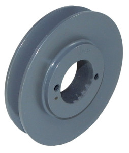 "2.35"" OD Single Groove Pulley / Sheave for 3V Style V-Belt (bushing not included) # 1-3V235-JA"
