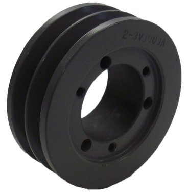 Od double groove pulley sheave for 3v style v for V belt pulleys for electric motors