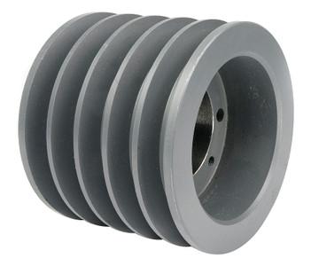 """5.60"""" OD Five Groove Pulley / Sheave for 3V Belt (bushing not included) # 5-3V560-SK"""