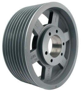 "5.00"" OD Eight Groove Pulley / Sheave for 3V Style V-Belt (bushing not included) # 8-3V500-SK"