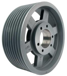 "5.60"" OD Eight Groove Pulley / Sheave for 3V Style V-Belt (bushing not included) # 8-3V560-SK"