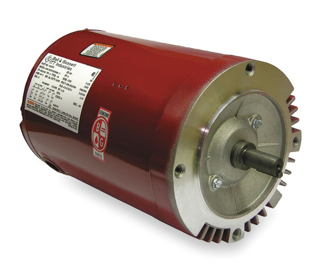 2 hp 1725 rpm 208 230 460v bell gossett electric motor
