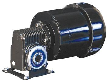 Dayton 3 Phase Hollow Shaft Right Angel Gear Motor 1/4 hp 124 RPM 230V # 6VEP4
