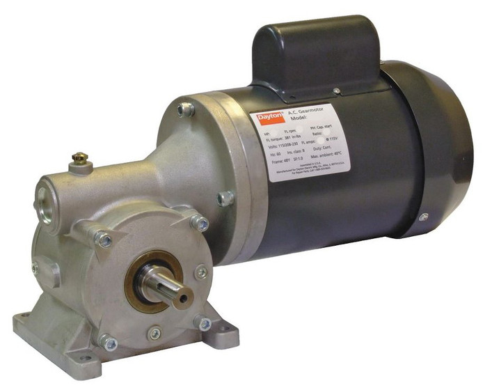 Dayton gear motor 1 3 hp 45 rpm 115 208 230 volt 60 hz 4cvu1 for 1 3 hp motor