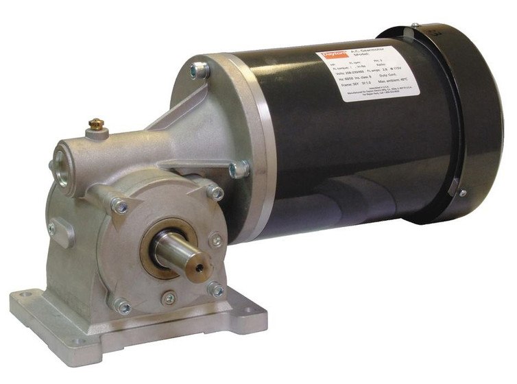 Dayton gear motor 1 hp 100 rpm 203 230 460 volt 3 phase for 7 rpm gear motor
