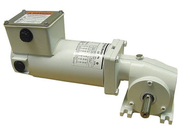 Dayton Washdown Right Angle Gear Motor 1/8 hp 42 RPM 90 Volt DC # 5CJC7