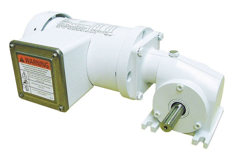 Dayton washdown right angle gear motor 1 6 hp 83 rpm 115 for Right angle electric motor
