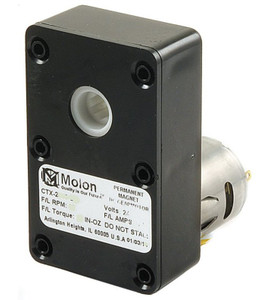 Molon CTX-24130-3 (24V) Gear Motor 1/64 hp 138 RPM 24 Volt DC