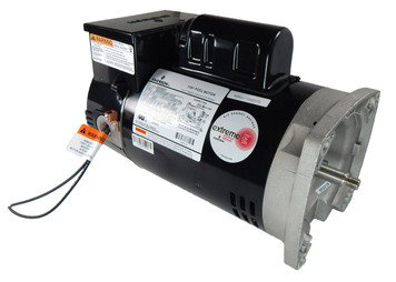 1 hp 2-Speed 56Y Frame 230V Square Flange Pool Motor with Timer US Electric Motor # EB2982T