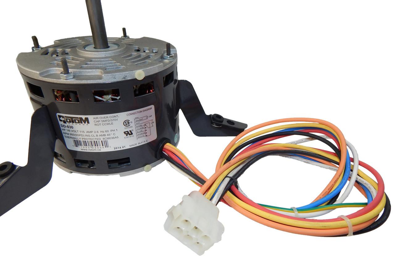 16 hp 950 RPM 5Spd 115V Unilux 663001312635 Rotom Blower Motor – Rotom Canada Capacitor Wiring Diagram
