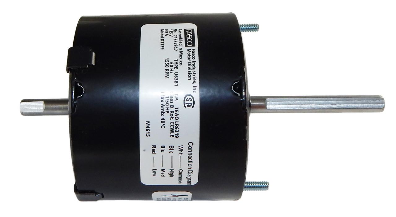 1/50 hp 1550 RPM 3-Speed CW 3.9