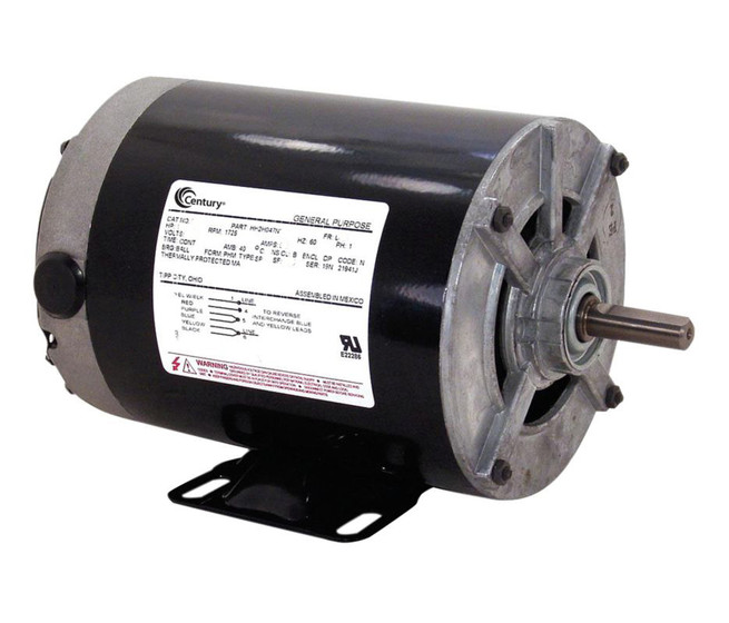 1 4 hp 1725 rpm 115v split phase rigid base motor century for Split phase ac motor