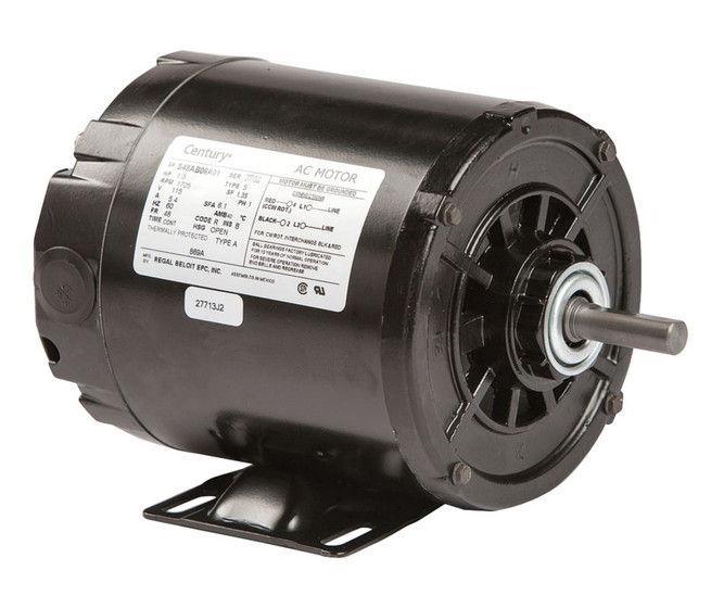 1 3 Hp 1725 Rpm 48 Frame 115v Split Phase Rigid Base Motor